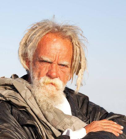 Portr�t eines obdachlosen Mann in S�dkalifornien