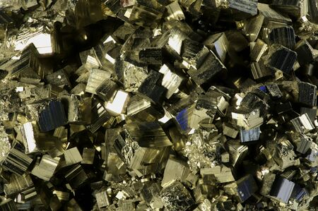 pyrite: Close-up of Pyrite Crystal structure