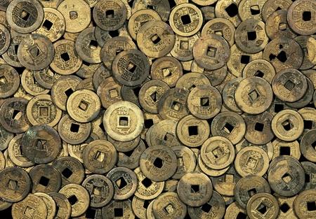Antique Bronze gegossen chinesische M�nzen aus dem fr�hen 20. Jahrhundert