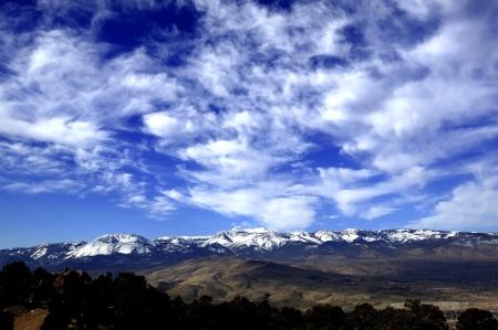 sierra snow: Snow capped Eastern Sierra