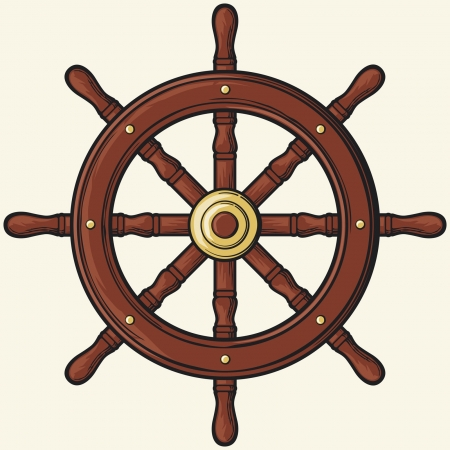 helm boat: timón
