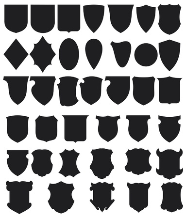 badge shield: Black Shields Set