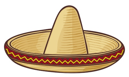 cartoon clothes: sombrero (mexican hat)