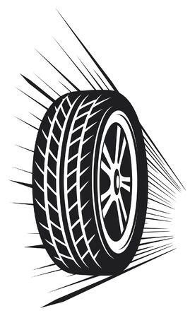 wheel (tyre) Stock Vector - 14836393