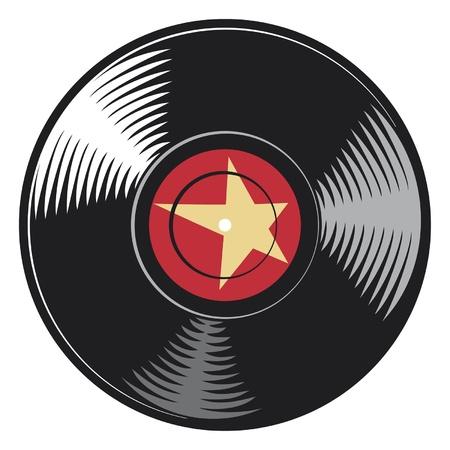 ностальгический: вектор виниловый диск (виниловая пластинка)