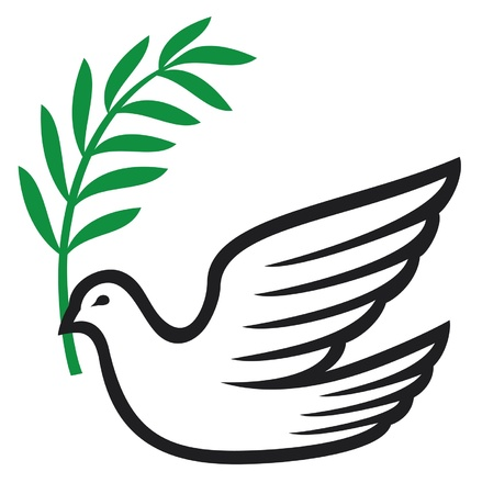 heaven and earth: dove of peace (peace dove, symbol of peace)