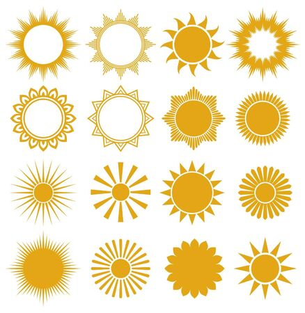 suns - elements for design (set of vector suns, suns collection) Stock Vector - 14836260