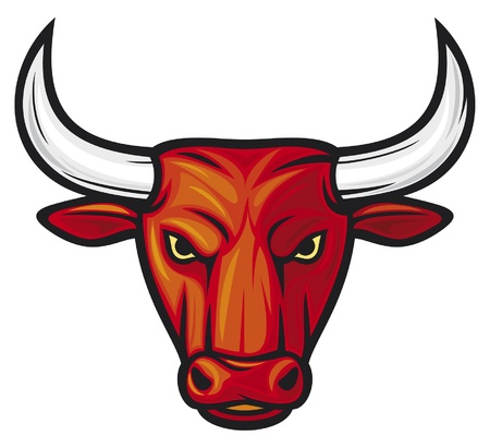 bull head (red bull) Vector