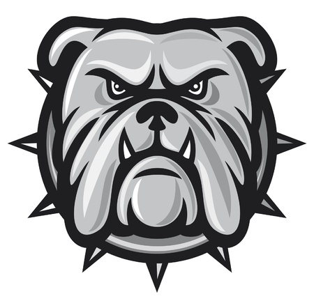 bulldog head (angry bulldog, bulldog vector illustration) Stock Vector - 14836273