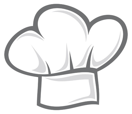 gorro chef: blanco sombrero de chef