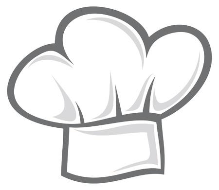 panadero: blanco sombrero de chef