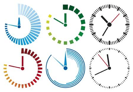 chronometer: clock icons (clock set) Illustration