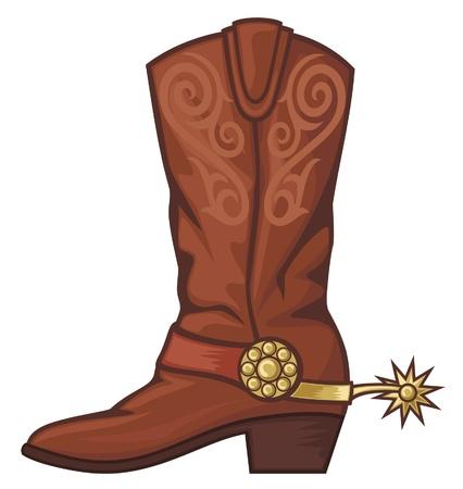cowboy boot Stock Vector - 14836346