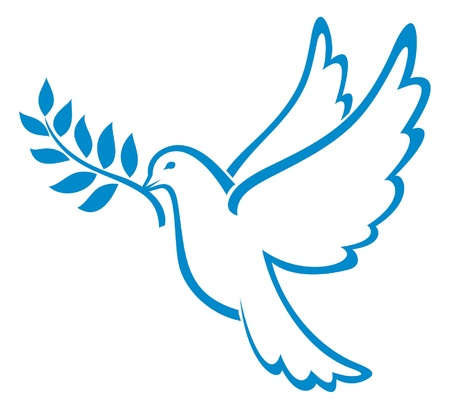 olive branch: dove of peace (peace dove, symbol of peace)