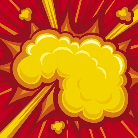 Explosion (Comic Book Explosion Background) Vector