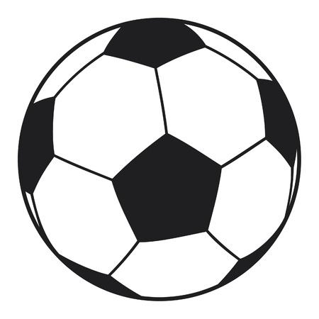 ballon foot: vecteur de ballon de football (soccer ball)