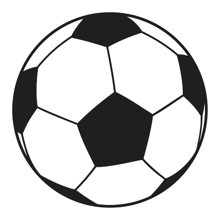soccer kick: vector football ball (soccer ball) Illustration