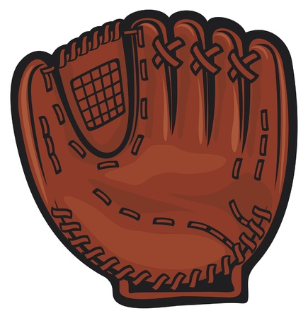 baseball game: baseball glove Illustration
