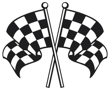 acabamento: duas bandeiras cruzadas xadrez (Racing bandeira quadriculada cruzados, acabamento bandeira quadriculada, bandeiras do revestimento)