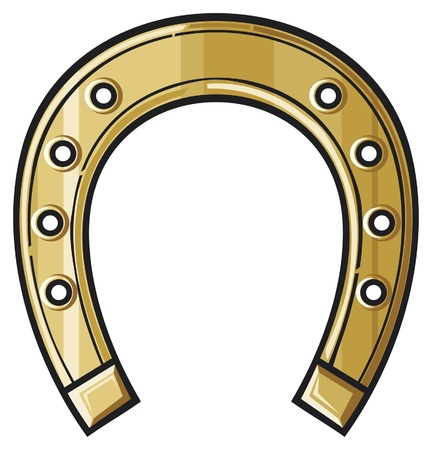 luck charms: gold horseshoe