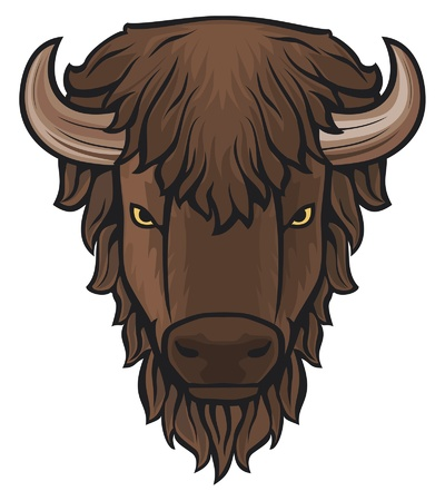 horn of plenty: Buffalo head