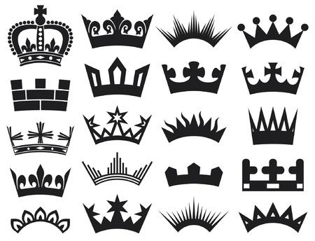 corona real: colección corona (corona conjunto, silueta corona)