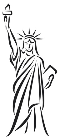 democracy monument: Statue of Liberty Illustration