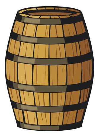 古いバレル (木製の樽)