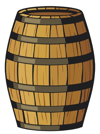old barrel (wooden barrel) Stock Vector - 14836343