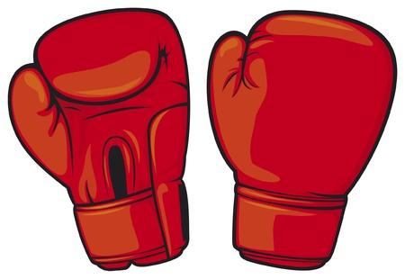 guantes de boxeo: guantes de boxeo rojos