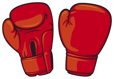 boxing sport: red boxing gloves