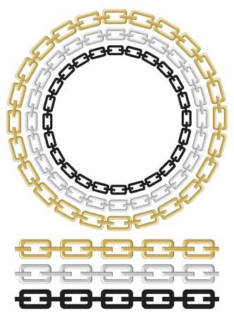 set of chain vector Stock Vector - 14836255