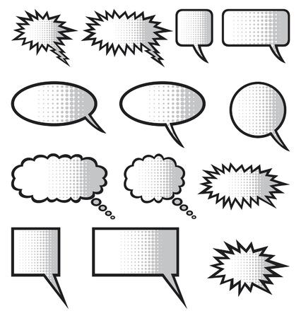 talk balloon: speech bubbles  comic speech bubbles