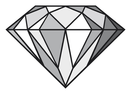 diamond stones: diamond Illustration