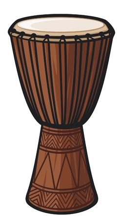 African Drum  Music Instrument  Stock Vector - 14836368