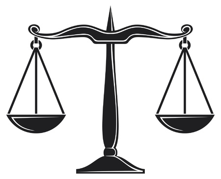 scales of justice symbol Stock Vector - 14836245