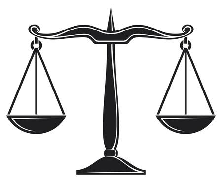 imbalance: schalen van rechtvaardigheid symbool Stock Illustratie