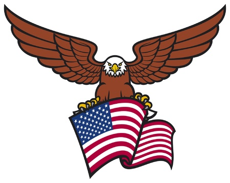 eagle with USA flag Illustration