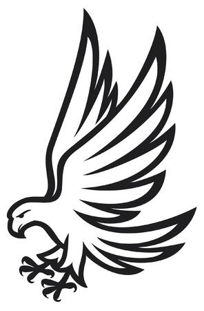 cross tattoo symbol: Eagle