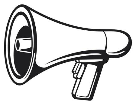 music loudspeaker: Megaphone (Bullhorn)