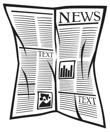 print media: Vector newspaper icon Illustration
