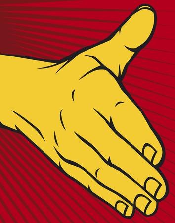 manos unidas: mano abierta Vectores