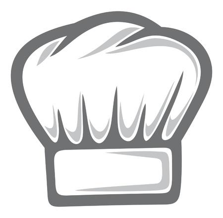 white chef hat Vector
