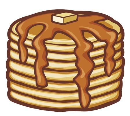palatschinken: Pfannkuchen mit Butter und Sirup