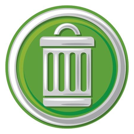 cesto basura: icono de papelera (basura, cubo de basura bot�n, s�mbolo de papelera)
