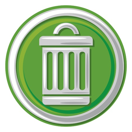 wastepaper basket: trash can icon (trash, trashcan button, trash can symbol) Illustration