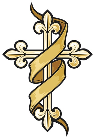sacrifices: vector illustration of christian cross
