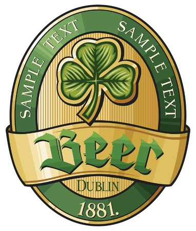 irland�s: cerveza dise�o de la etiqueta (label cerveza irland�s)