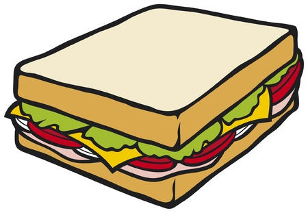 vegatables: sandwich