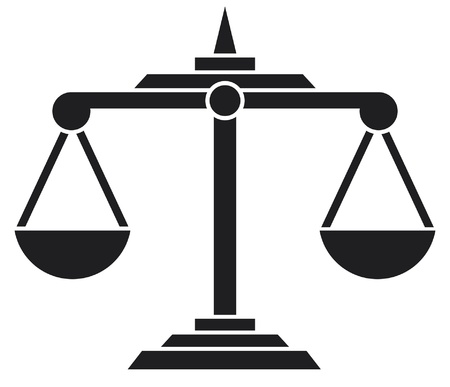 corrupted: scales of justice symbol